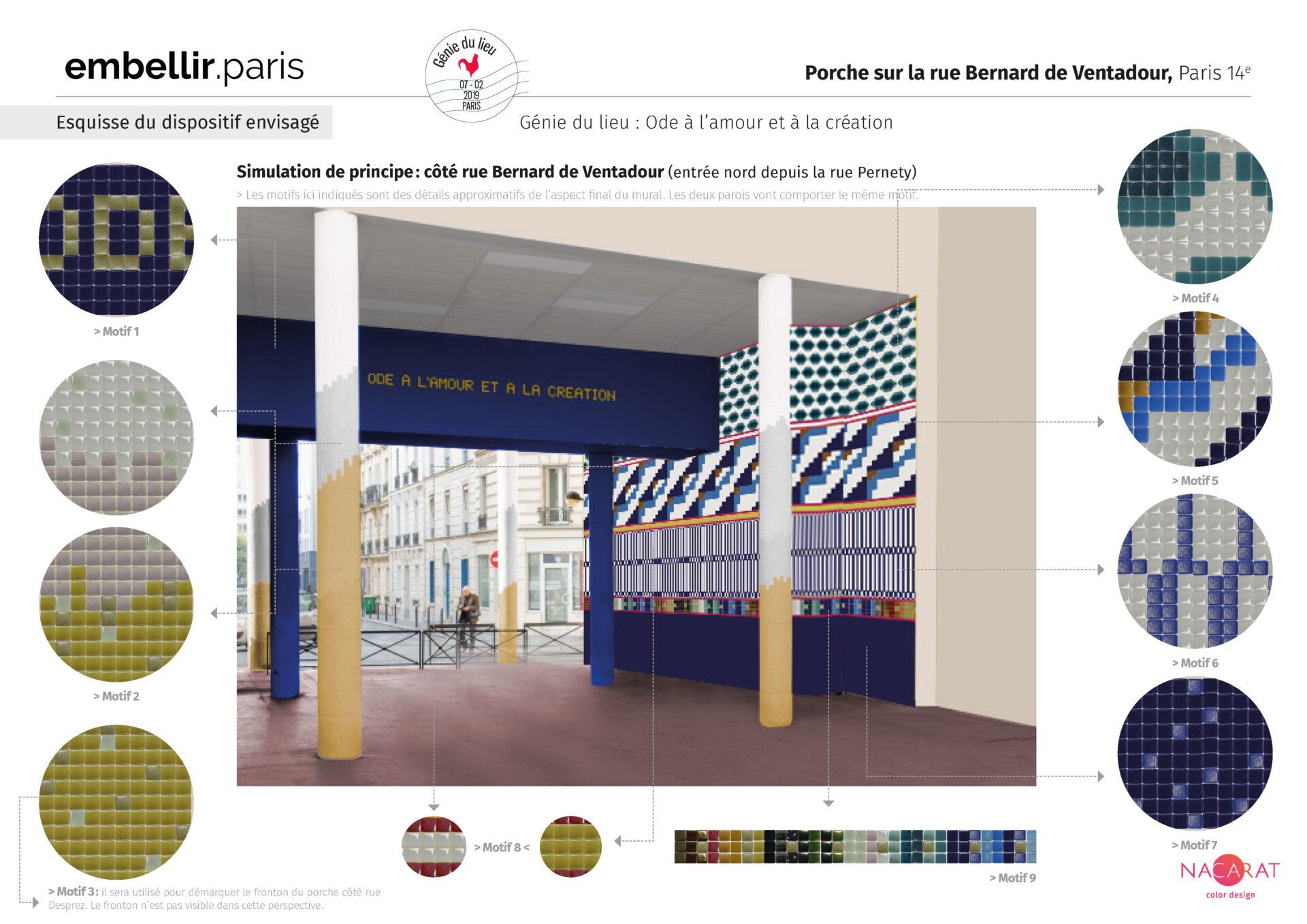Projet lauréat Embellir Paris - Génie du lieu : ode à l'amour et à la création