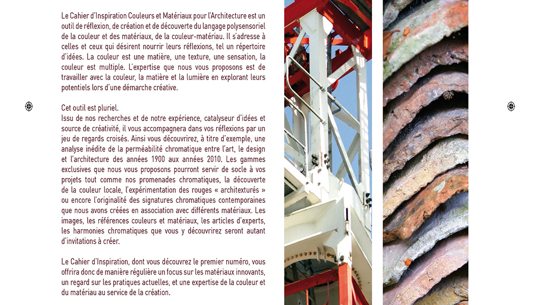 Cahier d'inspiration par Nacarat Color Design