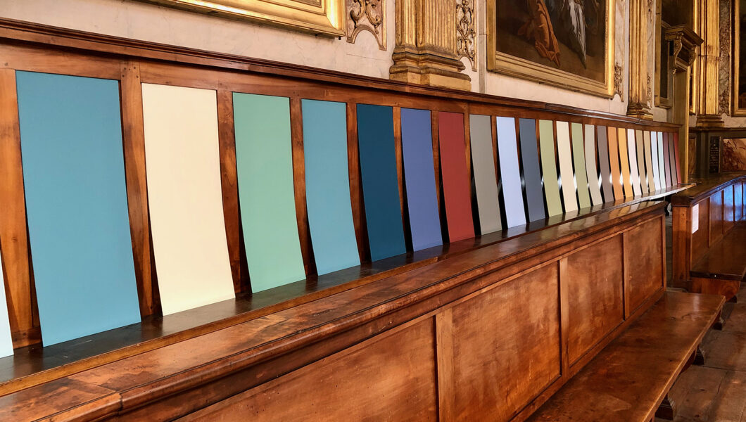 Installation Le Fil bleu - Nacarat Desing_Genie-du-lieu-Toulouse_Chapelle_des_Carmélites