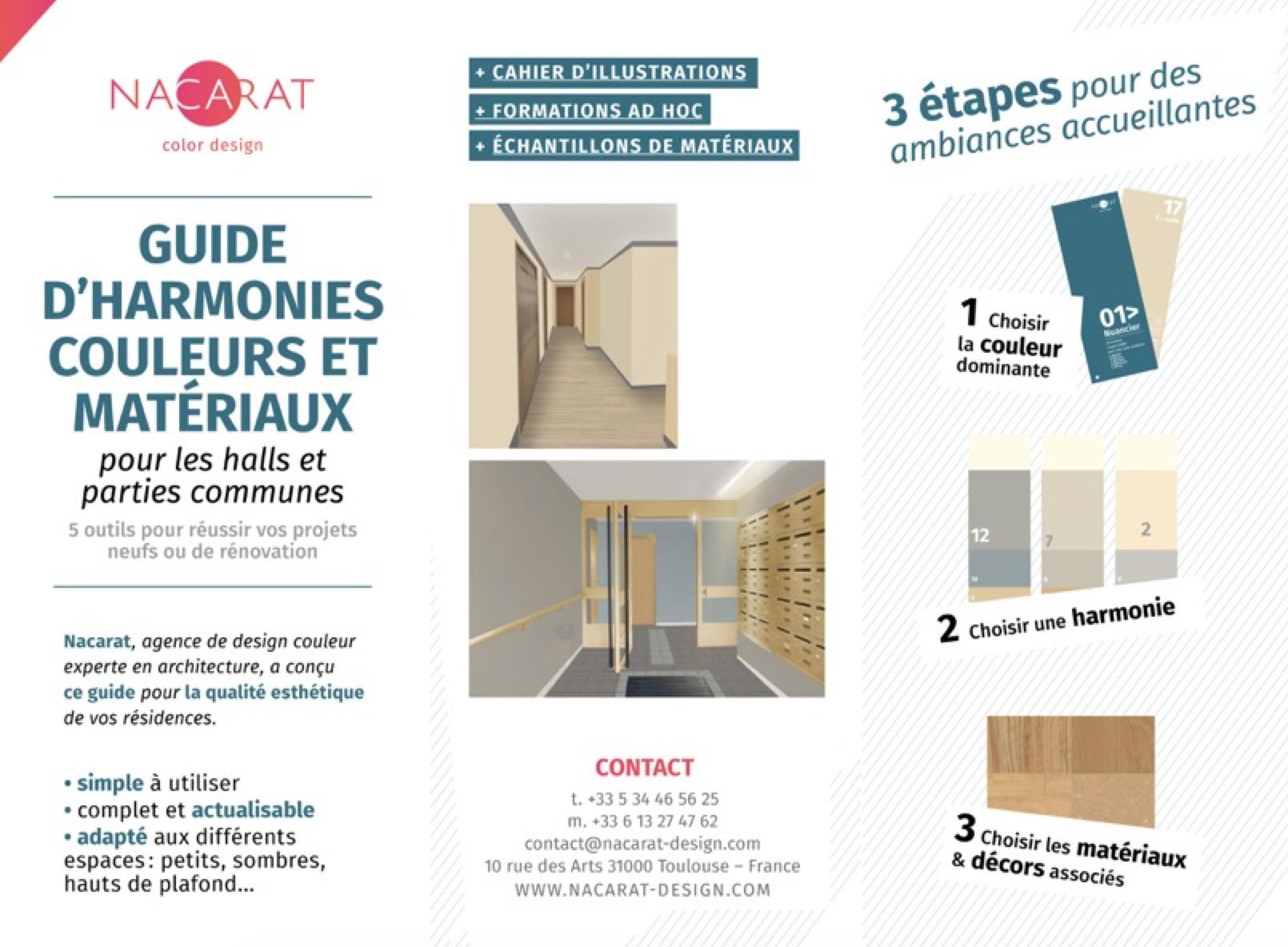 Guide d'harmonies couleurs et matériaux - Nacarat Design Couleur