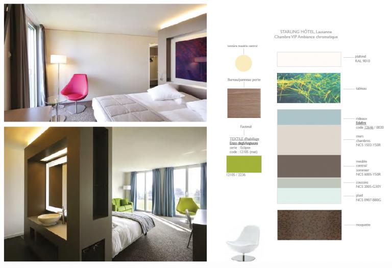Décoration d'intérieur - Hôtellerie - Nacarat Design Couleur