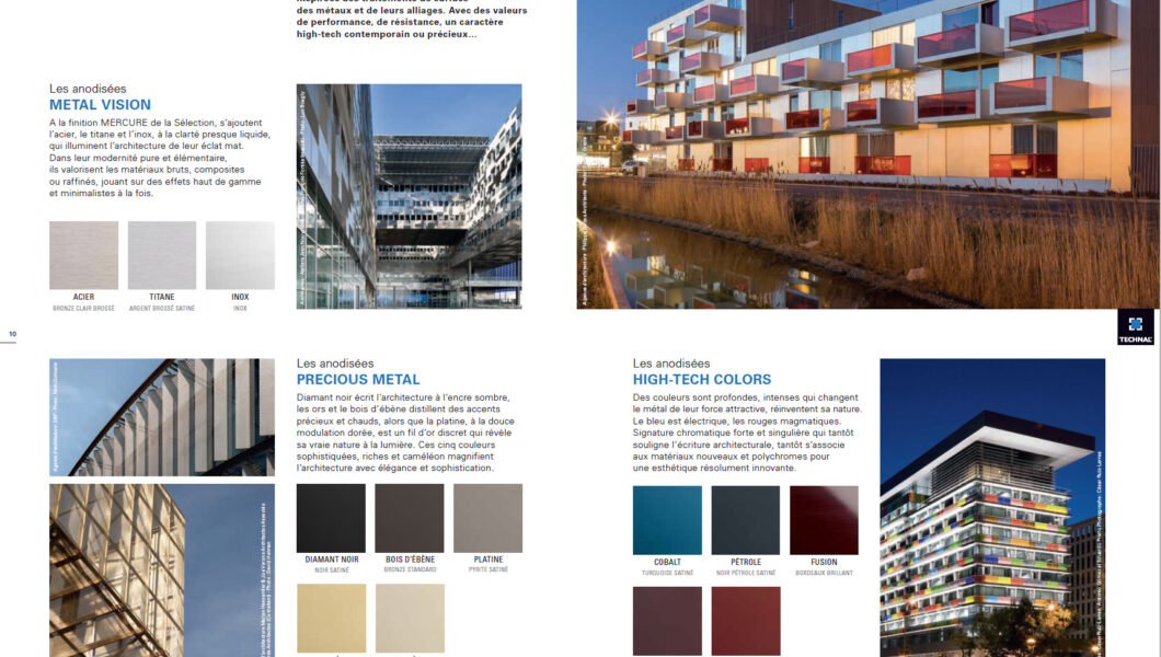 Collections de couleurs et outils marketing - Technal - Nacarat Color Design