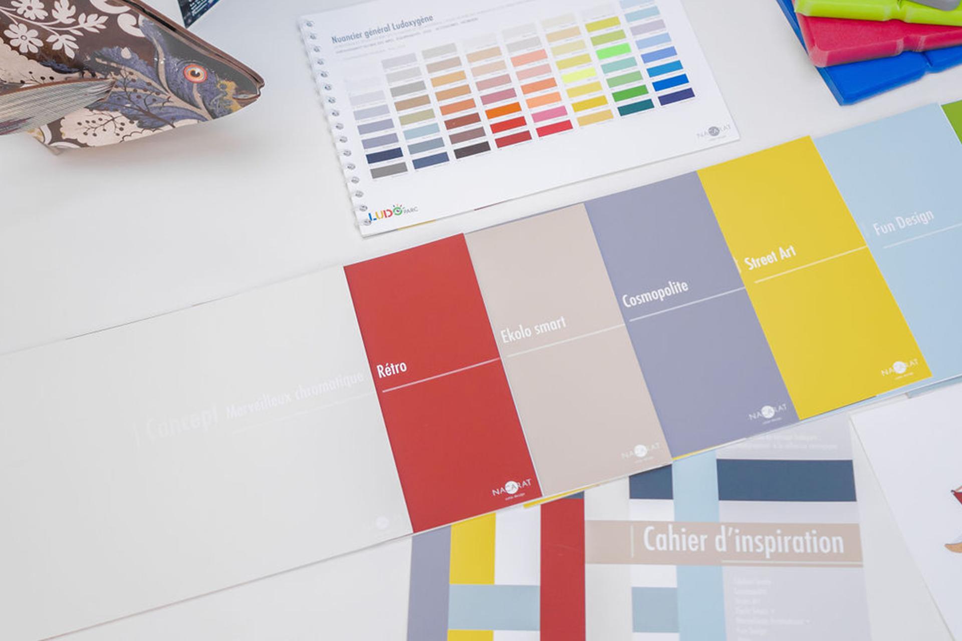 Design Couleur et finition pour Ludoparc_Nacarat Color Design