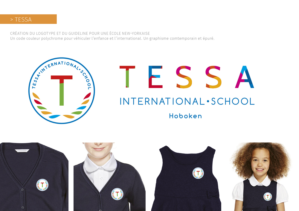Identité visuelle de TESSA, école internationale innovante à New York