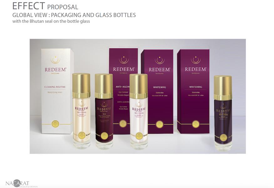 Packaging Redeem par nacarat Color design