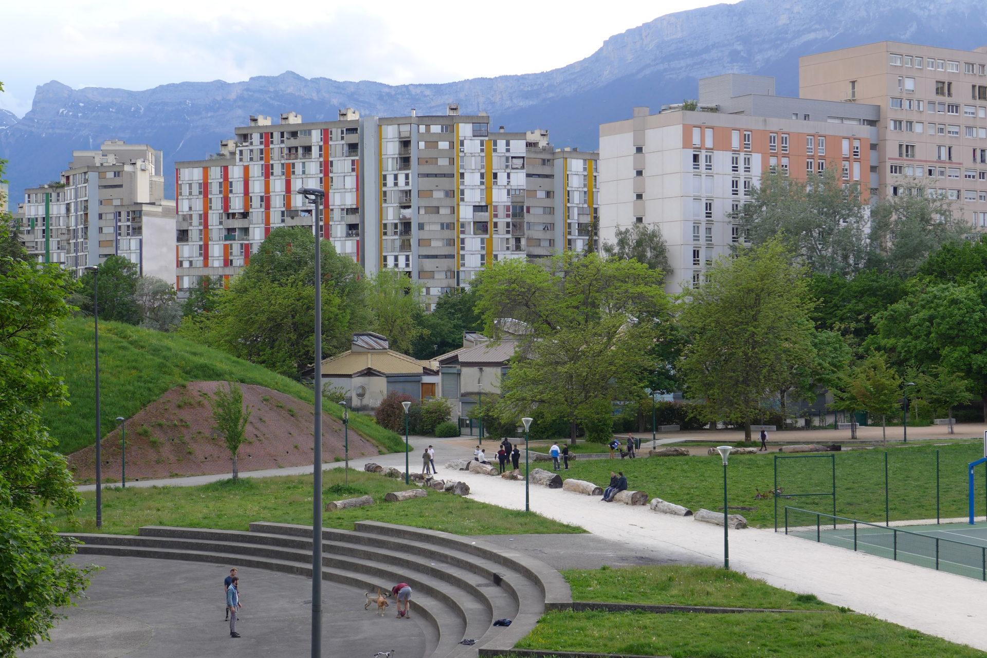 Nacarat-Réhabilitation de l'Arlequin à la Villeneuve de Grenoble